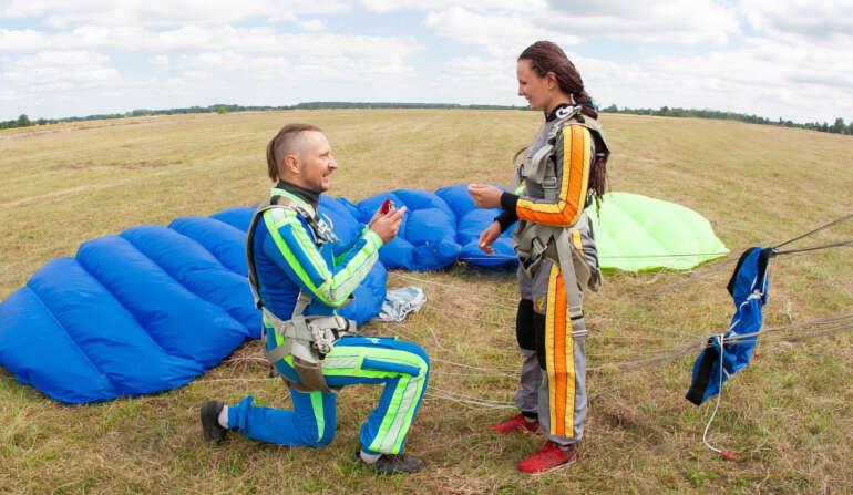 Подарок на 14 февраля - прыжок с парашютом - Skydive Academy